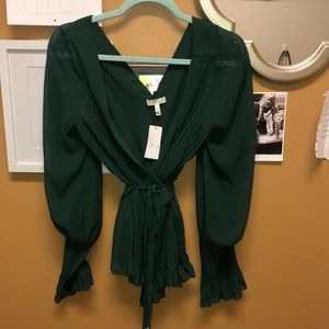 Joíe emerald green blouse